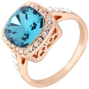 Ring Swarovski® Kristalle blue