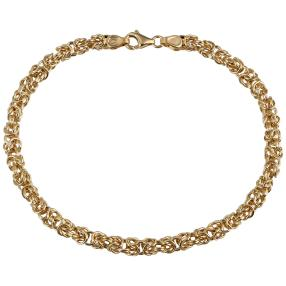 Königsarmband 375 Gelbgold