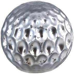 LED-Glaskugel grau-silber