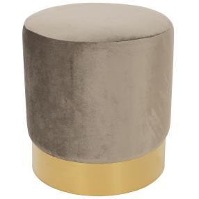 Hocker Samtoptik grau Goldring