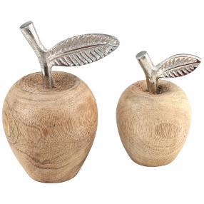 Äpfel mit Metallblatt 2er Set