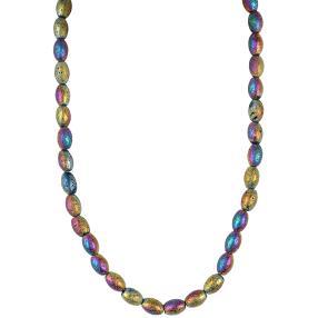 Collier Lava multicolor, ca. 12mm