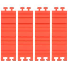 Silikon-Puzzle-Backform rot 4-teilig