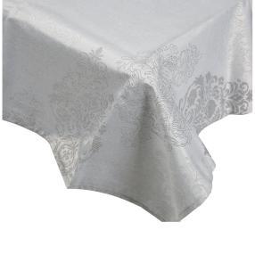 Tischdecke Ornament, Lurex silber