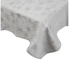 Tischdecke Sterne/Kristalle, Lurex silber