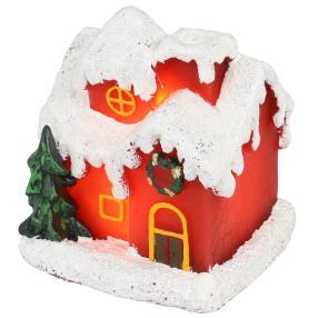 LED-Kerze Weihnachtshaus