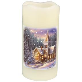 LED-Kerze 'Winterlandschaft'