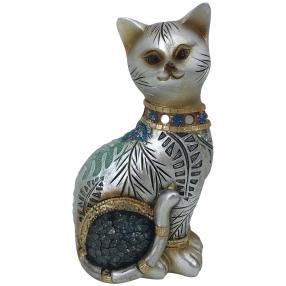 Dekofigur Katze sitzend gold