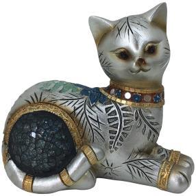 Dekofigur Katze liegend gold