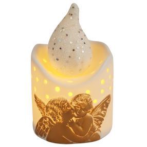 Ceramico LED-Kerze Engel gold