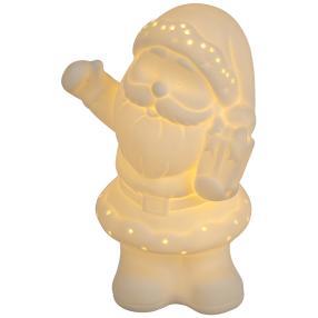 Ceramico LED-Weihnachtsmann weiß