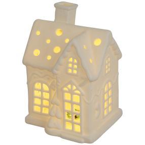 Ceramico LED-Weihnachtshaus weiß