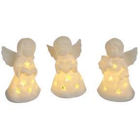 Ceramico LED-Engel 3er-Set