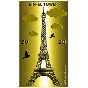 Goldbarren Eiffelturm 2020