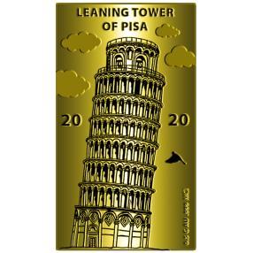 Goldbarren Schiefer Turm von Pisa 2020