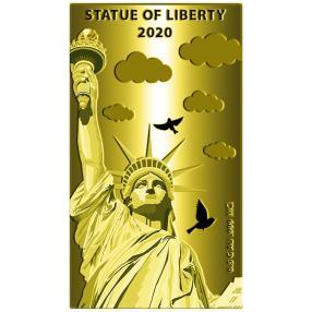 Goldbarren Freiheitsstatue New York 2020