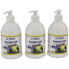 BOTANIS Sheabutter Pflege-Creme 3 x 500 ml