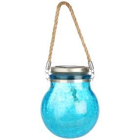 LED Solar Deko-Leuchte Kugel blau