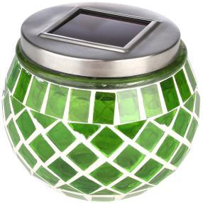 LED Solar-Tischleuchte Mosaikglas