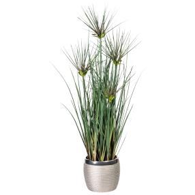 Grasbusch im Keramiktopf, ca. 60 cm