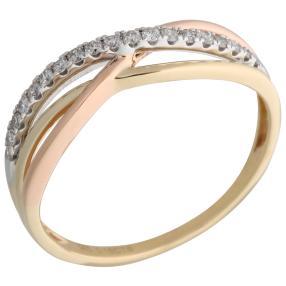 Ring 585 Gelbgold/Weißgold/Roségold Brillanten