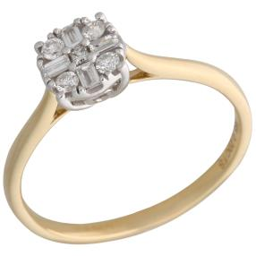 Ring 585 Gelbgold Diamanten ca. 0,20ct.