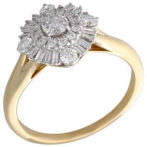 Ring 585 Gelbgold Diamanten ca. 0,75ct.