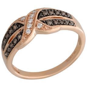 Ring 585 Roségold Brillanten ca. 0,25 ct.