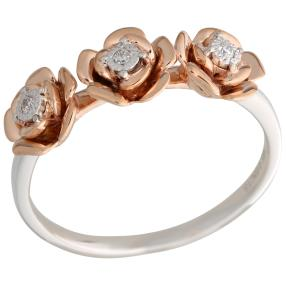 Ring Rose 375 Roségold/Weißgold Brillanten
