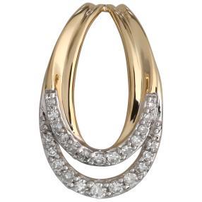 Anhänger 585 Gelbgold Diamanten