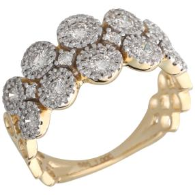 Ring 585 Gelbgold Diamanten ca. 1,0ct.