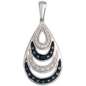 Anhänger 925 Sterling Silber Diamanten