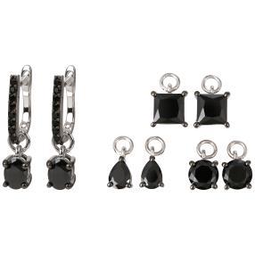 5-teiliges Set Ohrhänger 925 St. Silber Spinell