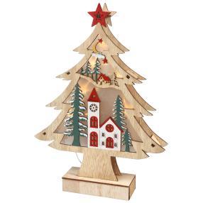 LED-Holzdeko Weihnachtsbaum