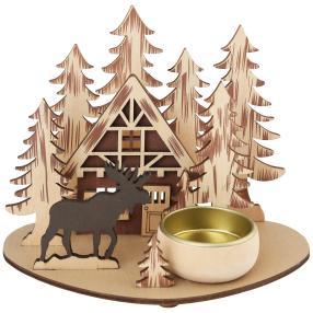 Teelichthalter Waldhütte