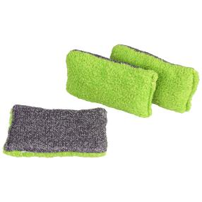 Bacfree Reinigungsschwämme 3er Set, grün/grau