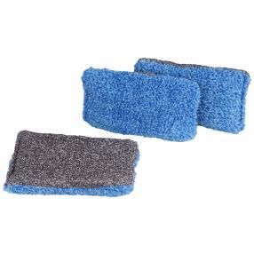 Bacfree Reinigungsschwämme 3er Set, blau/grau