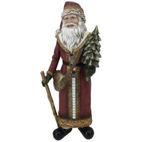 Dekofigur Weihnachtsmann rot stehend
