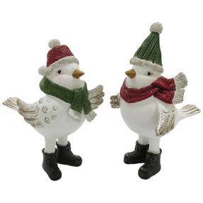 Dekofigur Weihnachtvögel 2er-Set