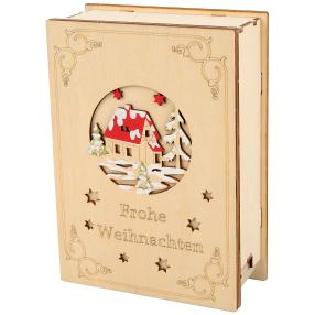 LED-Holzbuch Weihnachten