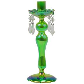 Crystal Dreams Glas-Kerzenhalter grün