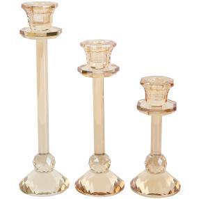 Crystal Dreams Kerzenhalter 3tlg. champagner