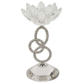 Crystal Dreams Kristall-Kerzenhalter silber