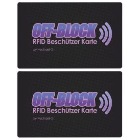 2x OFF-Block Aktive RFID/NFC Schutzkarten
