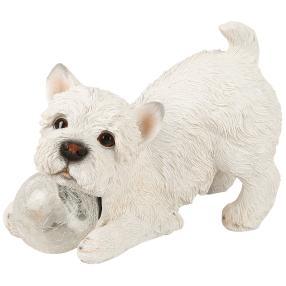 Zauberwelt Hund mit Solar-Kugel