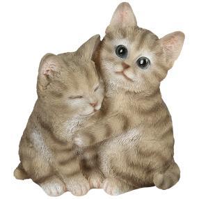 Zauberwelt Katzenpaar grau