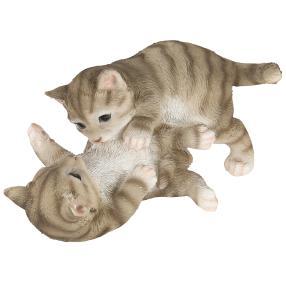 Zauberwelt Katzen spielend grau