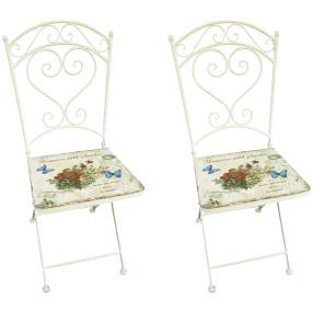 Bistro Stuhl floral 2er-Set