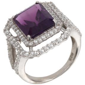 Ring 925 Sterling Silber Amethyst Zirkon