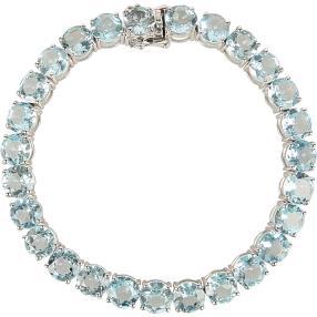 Armband 925 Sterling Silber Blautopas behandelt